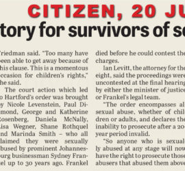 Massive victory for survivors of sexual abuse - Citizen