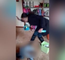 Caregiver abuses child at a crèche in Carletonville, Gauteng.