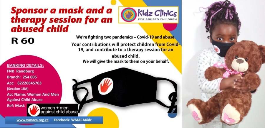 Sponsor a mask to an abused child
